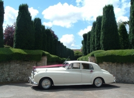 Classic White Rolls Royce wedding car in Canterbury